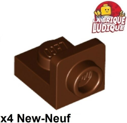 Lego 4x Bracket 1x1-1x1 support 90° bas marron//reddish brown 36840 NEUF