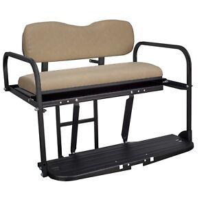 Gusto-Club-Car-Precedent-Golf-Cart-Flip-Folding-Rear-Back-Seat-Kit-Buff