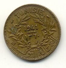 Pièce monnaie TUNISIE TUNISIA 1 franc 1941 état voir scan