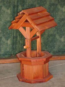 2 Kentucky Red Cedar Wishing Well Flower Planter Ebay