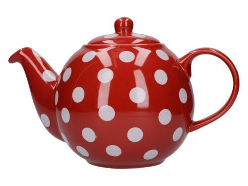 Teekanne London Pottery Globe rot weiß gepunktet für 1200ml  Creative Tops