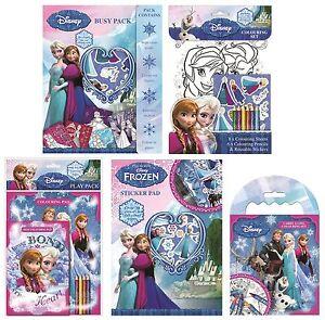 Disney Frozen Colorare Attività Adesivo Indaffarato Confezioni