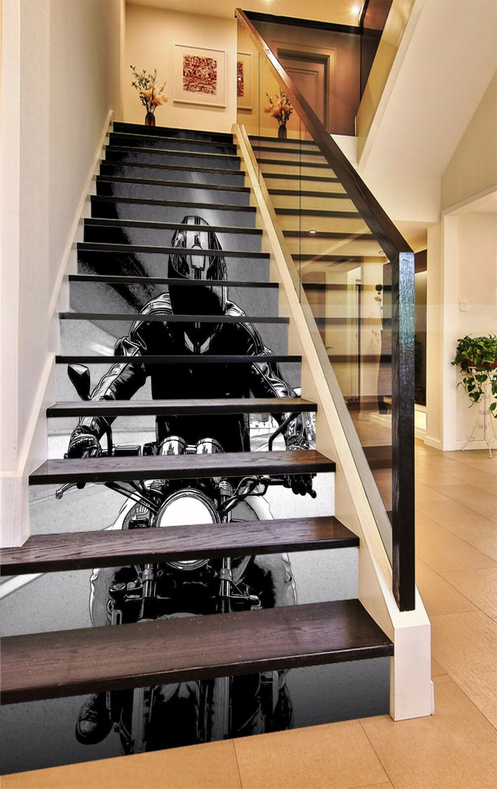 3D Motorcycle 8331 Stair Risers Decoration Photo Mural Vinyl Decal Wallpaper AU