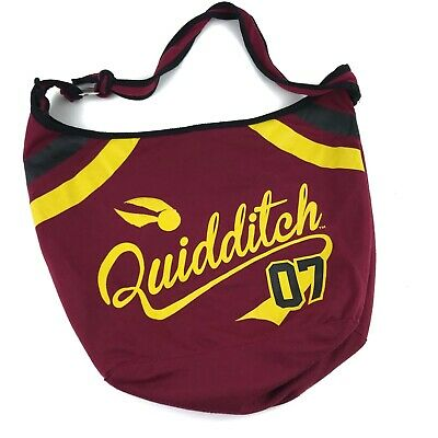 New Harry Potter Quidditch Snitch Game 07 Varsity School Hobo Bag