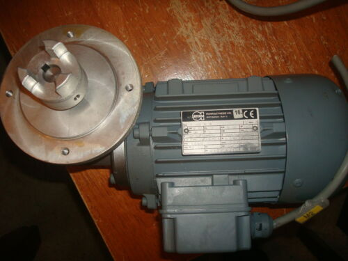 RGM Ruhrgetriebe Motor w// right angle reducer 5:1  .12 Kw 220V Model#  T 63 A 4