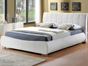 New Doris 6ft Super King Size White Faux Leather Bed Frame Ebay