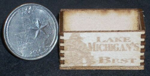 Dollhouse Miniature Lake Michigan /'s Best  Produce Crate 1:12 Food Market Store