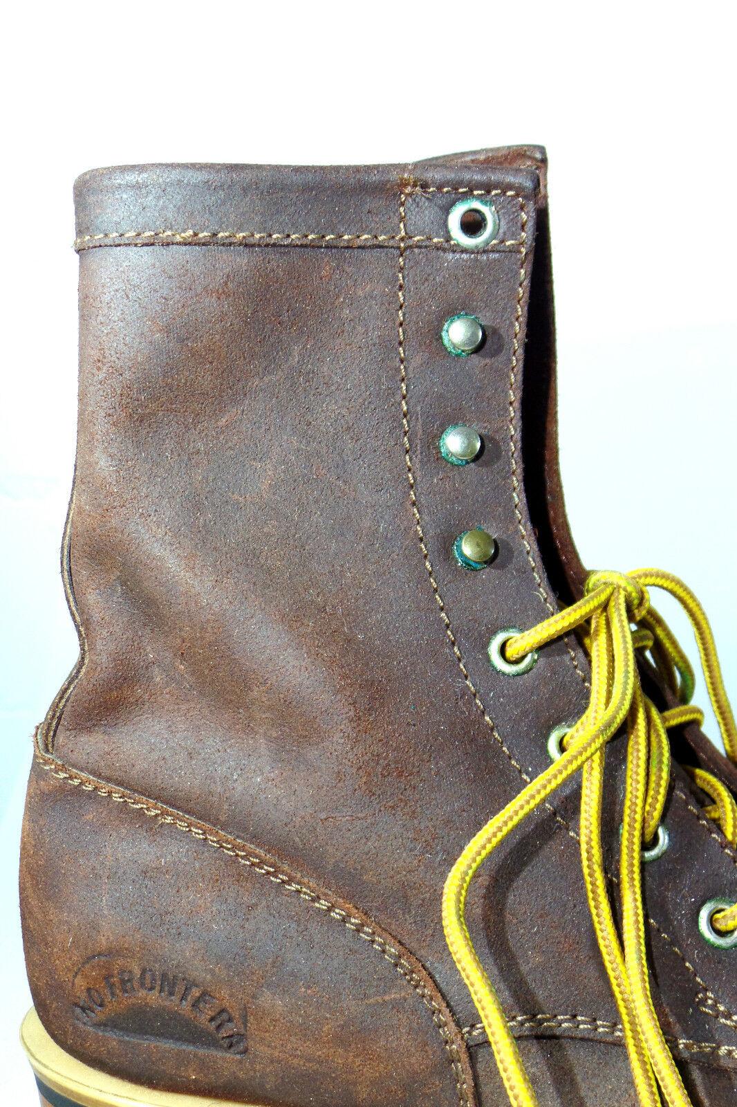 Westernstiefelette laborales vaquero Boot 38 marrón con cordones méxico nuevo...