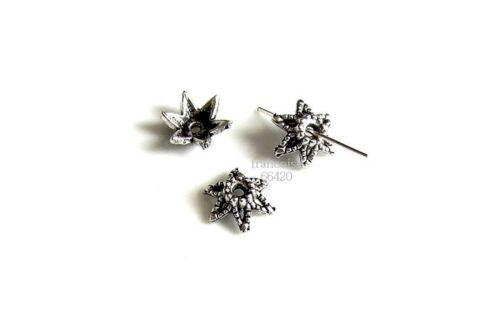 10 Caps calottes coupelles arg 10x10x4.5mm Perles apprêts création  bijoux A330