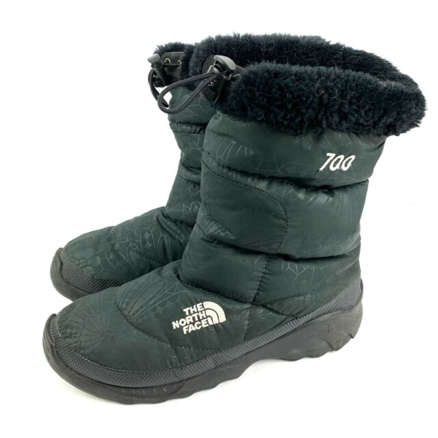 The North Face Nuptse Womens Boots 9 Goose Down Black Slip On 700 Series