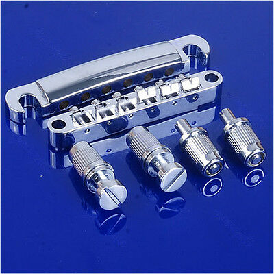 For Les Paul LP Style Set Chrome Guitar Tune-O-matic Bridge Tailpiece Tail