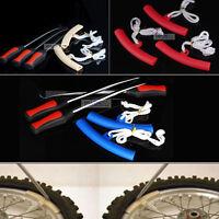 3x Tire Lever Tool Spoon Motorcycle Bike Tire Iron Change w/Wheel Rim Protectors
