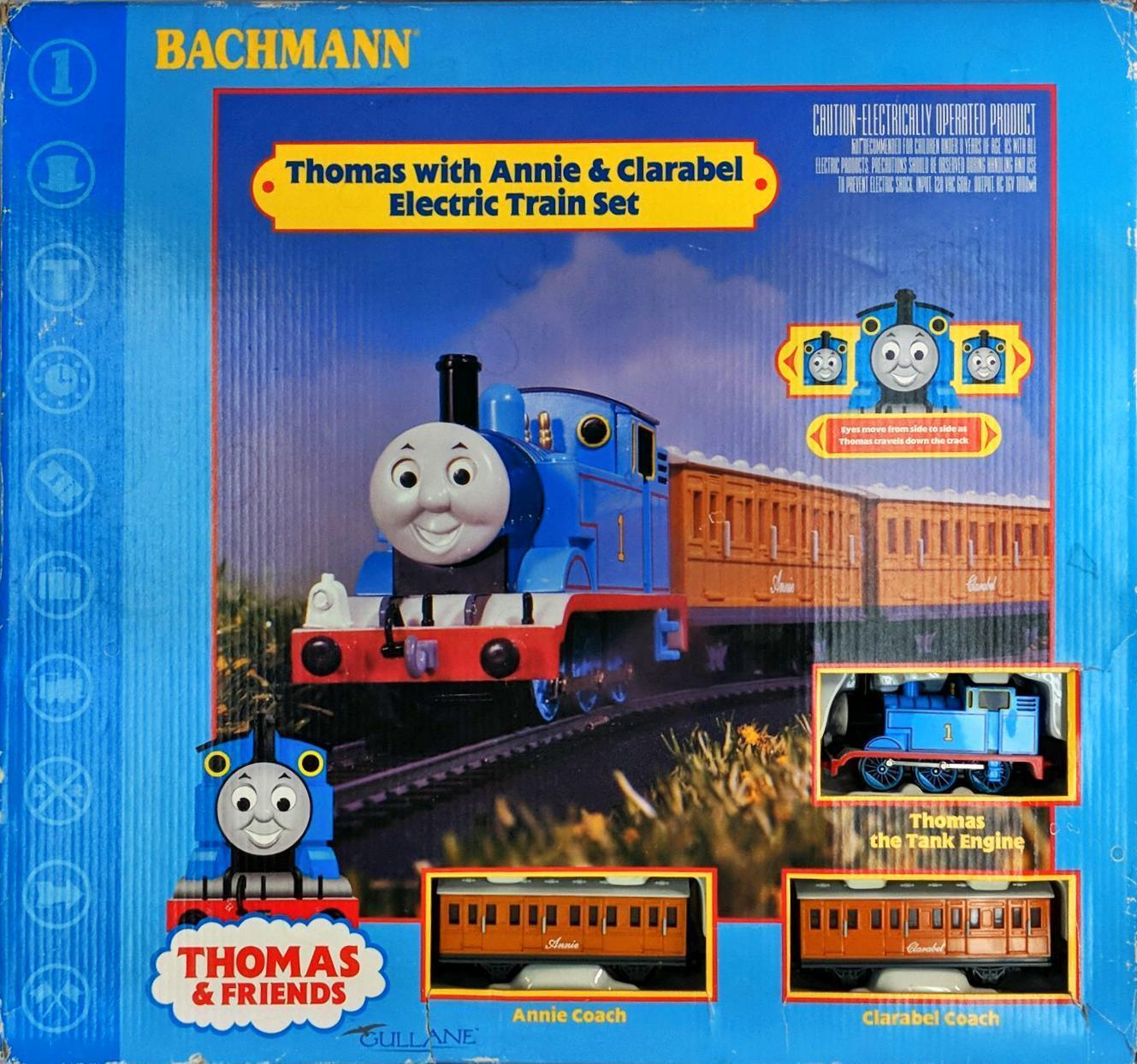 Thomas And Friends Thomas, Annie, & Clarabel Bachmann Electric HO Train Set Used