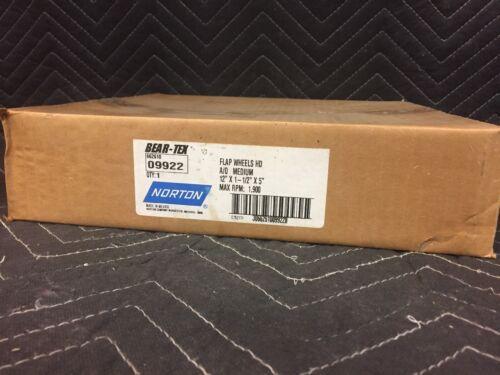 """Bear-Tex Norton 09922 Abrasive Flap Wheel Size 12 x 1-1//2/"""" x 5 Medium Grit ~New~"""