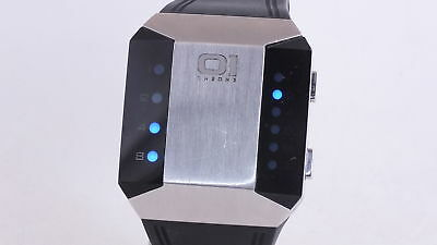 01 TheOne Stainless Steel Binary LED Quartz Gents Watch SC115B3 (T09)