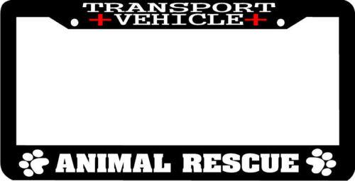 TRANSPORT VEHICLE animal rescue pet dog cat woof License Plate Frame