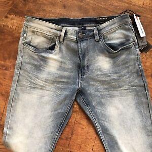 Buffalo-Jeans-Evan-X-Slim-Straight-Stretch-David-Bitton-Blue-Size-32x30