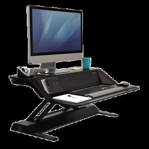 Fellowes-8080301-Lotus-DX-Adjustable-Sit-Stand-Workstation-Black