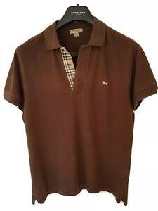 Mens-chic-LONDON-by-BURBERRY-short-sleeve-polo-shirt-size-medium-RRP-165