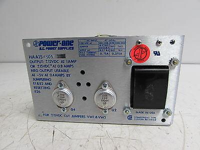 POWER-ONE D.C POWER SUPPLIES HAA15-505 POWER SUPPLY 47-63HZ 12VDC 1A **XLNT**