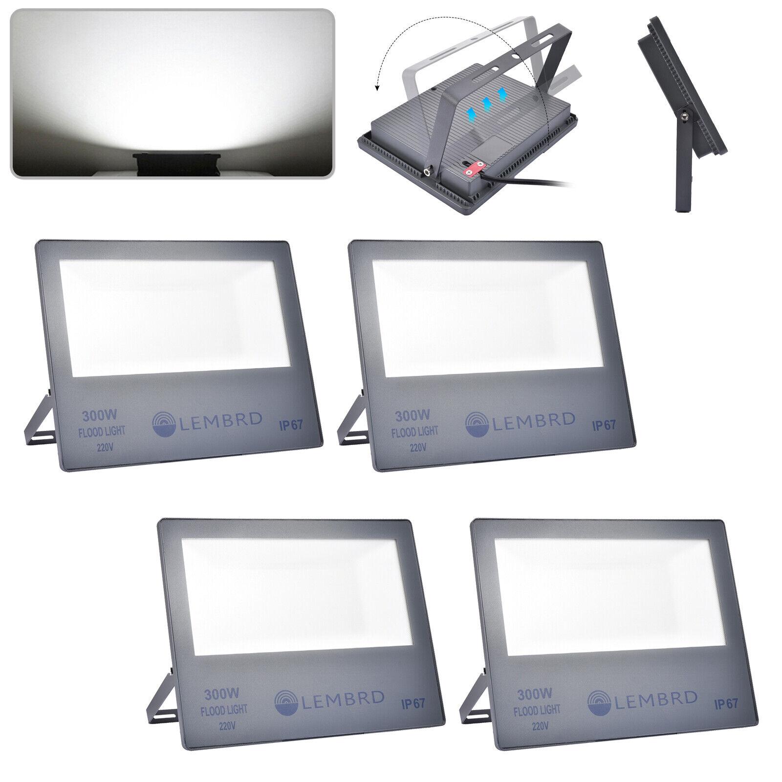 4X300W proyectores con iluminación al aire libre jardín luz focos LED cool blancoo IP67