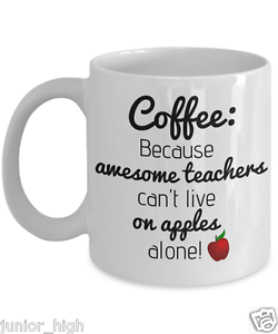 Details about Funny Teacher Mug Appreciation Gifts Math Science English  Preschool Kinder Apple