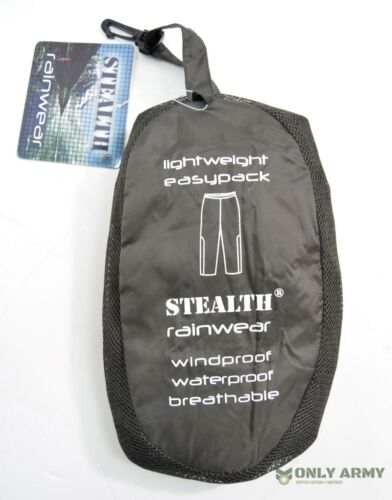 STEALTH Waterproof Trousers Lightweight Windproof /& Breathable Army Over Pants