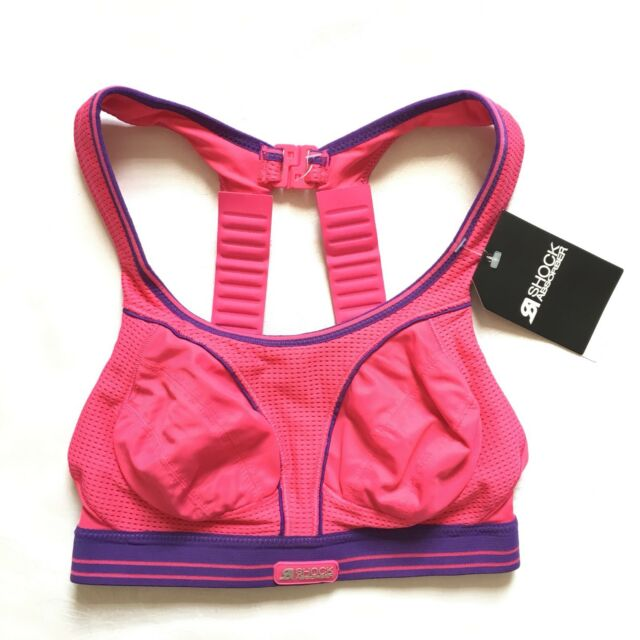 0de1f5fa26 BNWT Shock Absorber Active Multi Sports Bra UK 30B EU 65B Pink Purple RRP  £37