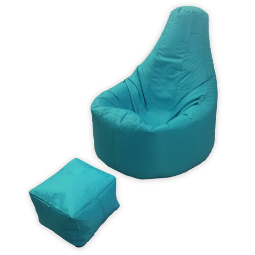 Large Bean Bag Footstool Gamer Beanbag Adult Outdoor Gaming Garden Big Arm Chair Aqua Blue Teal