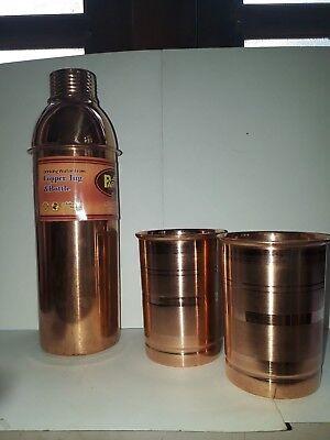 Copper Bisleri Bottle vintage copper collection electrified copper bottle water