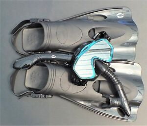 NEW-WILCOMP-Swimming-Snorkelling-Set-WIL-SS-33BA-fins-mask-dry-snorkel