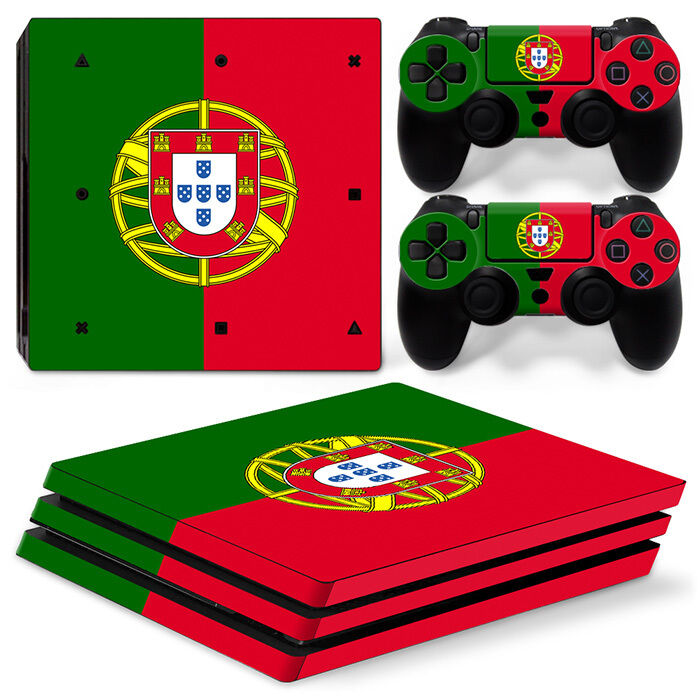 Sony PS4 PLAYSTATION 4 Pro Skin Sticker Screen Protector Set - Portugal Motif