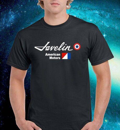 Javelin AMC Cars Logo Vintage Black T-Shirt Grey Tee Men Size S to 3XL