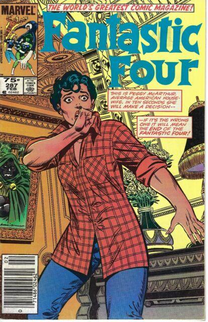 Fantastic Four #287(Newsstand); Very Nice Marvel Book; John Byrne