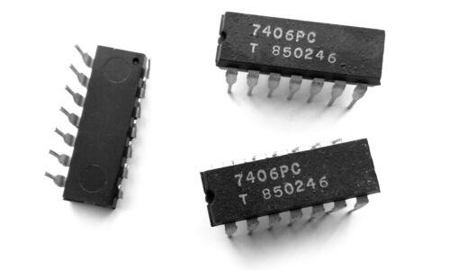 Hex Inverter//Haute-tension sorties 7406 IC 3 pièces 7406PC SN7406N