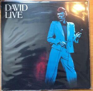 David Bowie David Live 2 LP Gatefold RYKO RALP 0138/9 US RE Transparent Vinyl