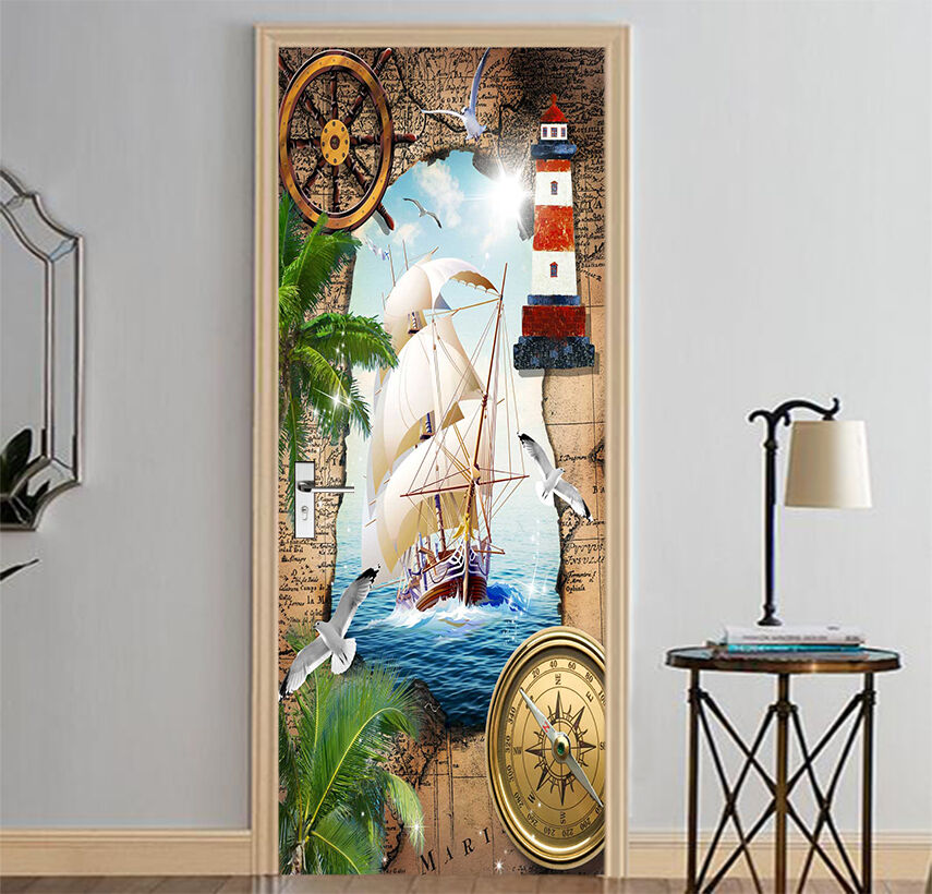 3D Der Dampfer Dampfer Dampfer 70 Tür Wandmalerei Wandaufkleber Aufkleber AJ WALLPAPER DE Kyra | Angemessener Preis  | Sale Outlet  | Online Store  32d948