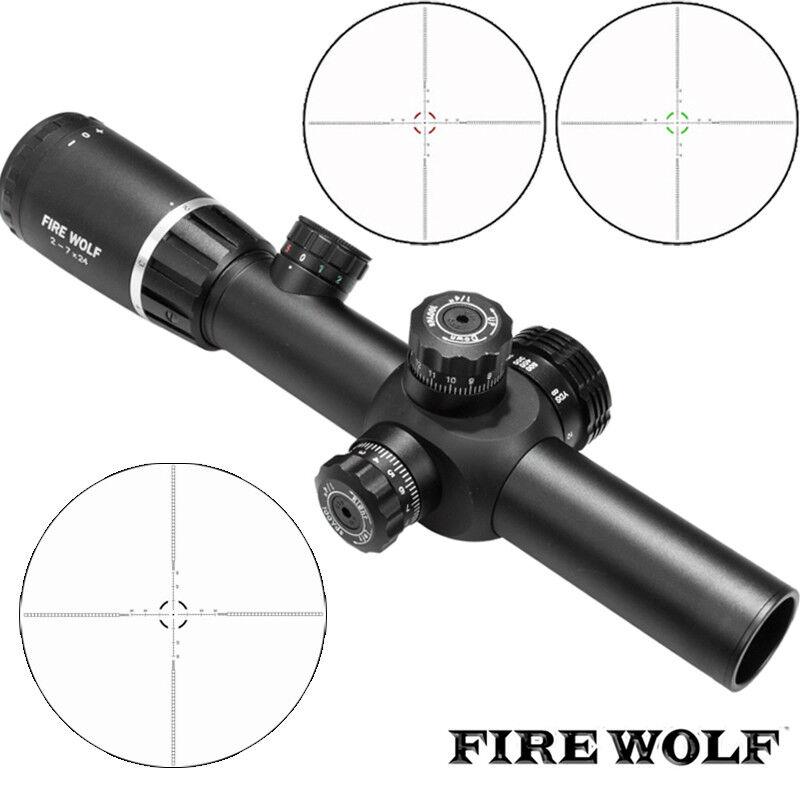 Nuevo 2-7X24 Visores Monturas de alcance caza con rifle Deportes al Aire Libre