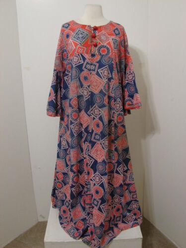 PEGGY LOU Caftan Dress Vintage 1960's Groovy Patc… - image 1