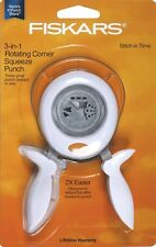 Fiskars Stitch in Time 3-in-1 Rotating Corner Squeeze Punch (Model # 01-005850)