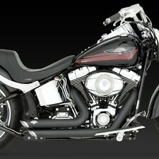 1986-2011 HARLEY SOFTAIL Short Shots Black Exhaust (VANCE AND HINES 47221)