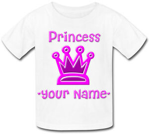 LITTLE-PRINCESS-PERSONALISED-GIRLS-T-SHIRT-IDEAL-GIFT-FOR-ANY-CHILD