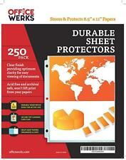 Clear Sheet Protector Non Stick Document Protector Acid Free 85 X 11 250 Pack
