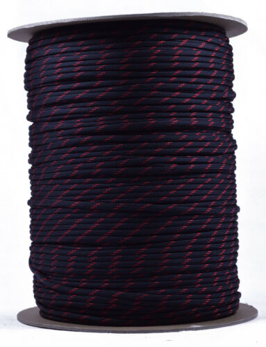 1000 Foot Spool 550 Paracord Rope 7 strand Parachute Cord Thin Red Line