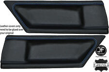 BLUE STITCH 2X REAR DOOR CARD LEATHER COVERS FITS BMW E36 COUPE 91-98 STYLE 2