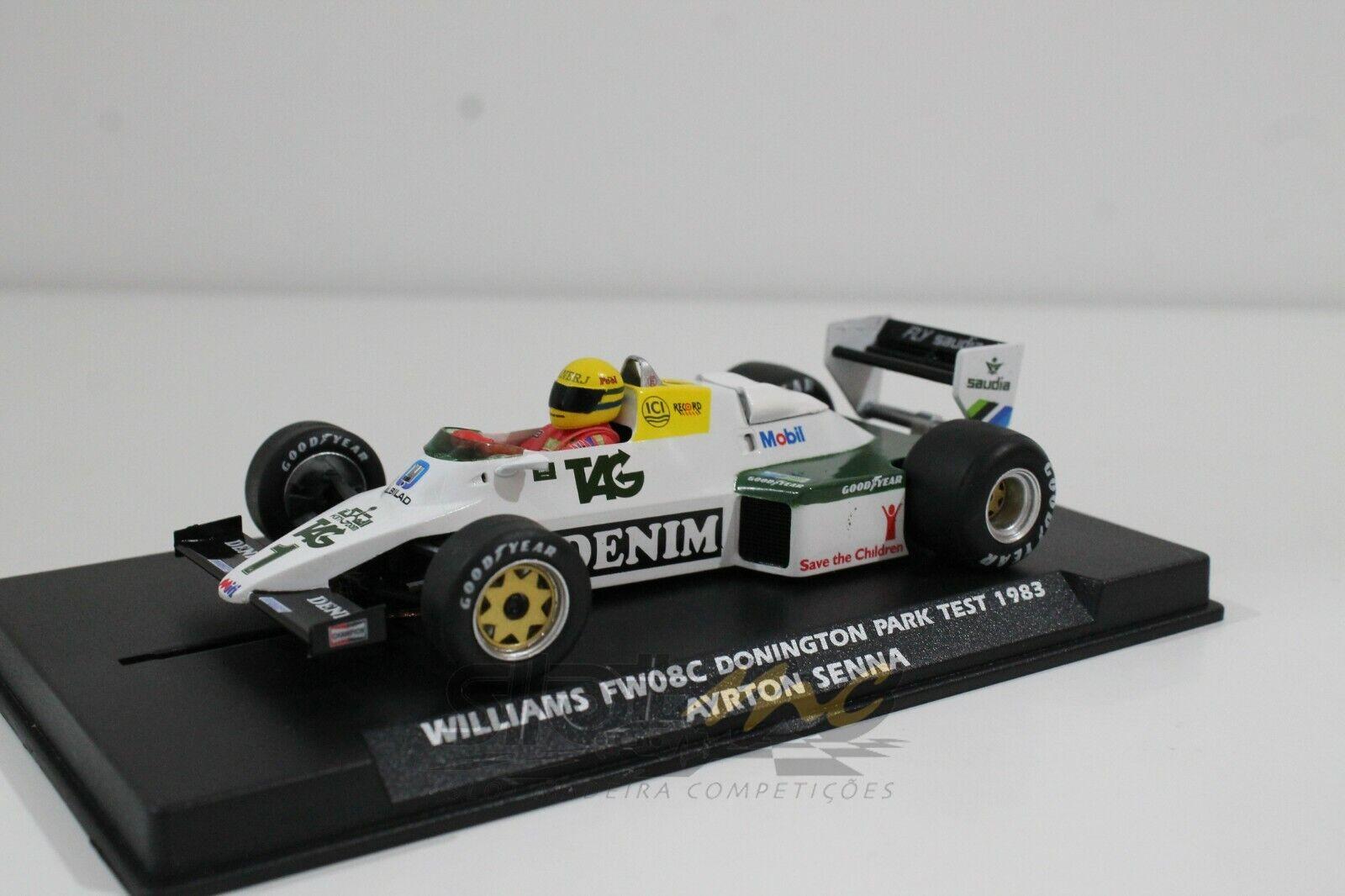 Flyslot W40101 Williams Williams Williams FW08C Gomington Park Test 1983 Ayrton Senna 1 32   NEW  3a909e