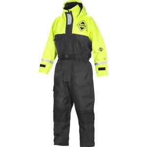 Fladen Flotation Suit 845 Floatinganzug Blau-Gelb XXS bis XXL Schwimmanzug