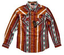 Wrangler Retro Womens Nwt Southwestern Print Western Snap Shirt Lw8043m