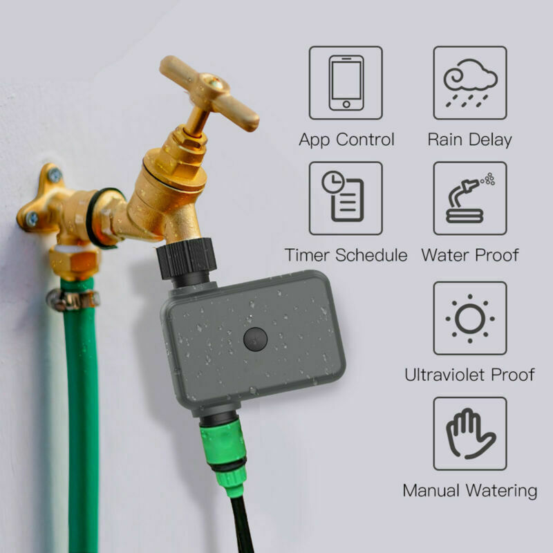 Garden Irrigation Bluetooth Sprinkler Timer Water Device Automatic APP Control L