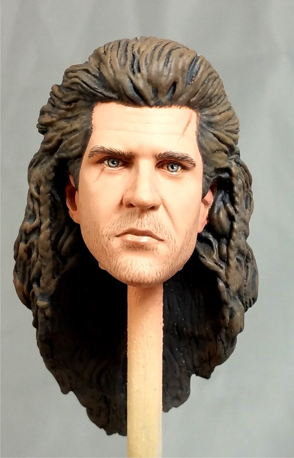 1:6 Custom Head Mel Gibson as William Wallace from the film Braveheart